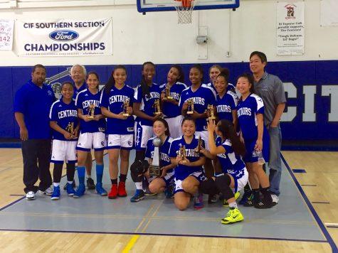Girls Varsity Basketball Win their Fifth Consecutive League Championship