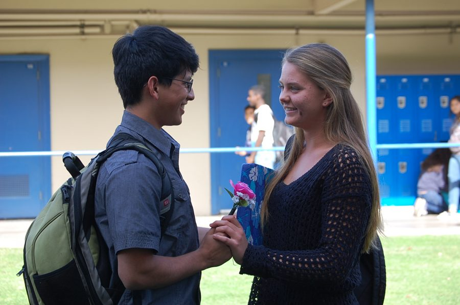 Junior Eric Perez asks his girlfriend, Lily Gardner, to Winter Formal.