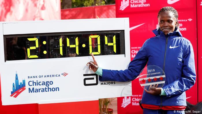 Brigid Kosgei Becomes the Fastest Female Marathon Runner