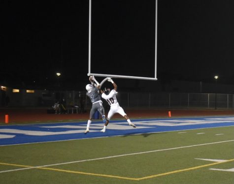 Emari Part catches the ball in the end zone. [Photo by Megan Goss]