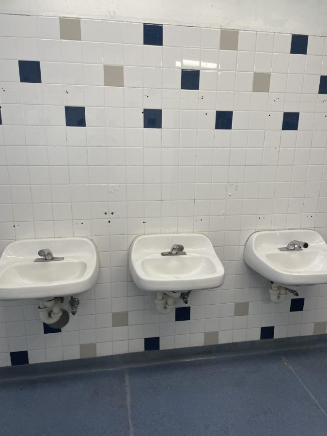 Soap dispensers stolen from the boys bathroom.